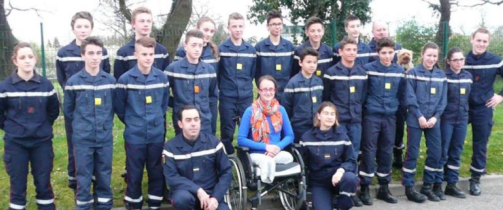 Témoignage aux Jeunes Sapeurs Pompiers